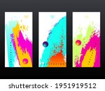 a set of three invitations.... | Shutterstock .eps vector #1951919512