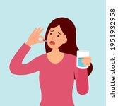 woman taking medicine for... | Shutterstock .eps vector #1951932958