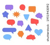 blank color speech bubbles and...   Shutterstock .eps vector #1951943092