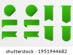 set of green ribbons  price... | Shutterstock .eps vector #1951944682