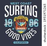 shark area west coast surfing... | Shutterstock .eps vector #1951971265
