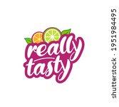tasty fresh fruit logo design ...   Shutterstock .eps vector #1951984495