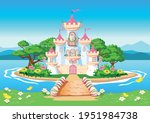fairy tale background with the... | Shutterstock .eps vector #1951984738