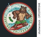 california surfing round...   Shutterstock .eps vector #1951999348