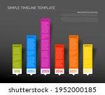 vector infographic timeline... | Shutterstock .eps vector #1952000185