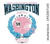 washington college typography...   Shutterstock .eps vector #1952007145