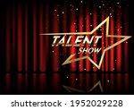 golden talent show text in the...   Shutterstock .eps vector #1952029228