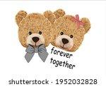 cute bear design  teddy bear... | Shutterstock .eps vector #1952032828