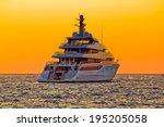 Luxury Yacht On Open Sea At...