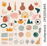 big set of hand drawn various... | Shutterstock .eps vector #1952051845