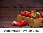 Ripe Red Berries Strawberries...