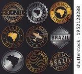 brazil business metal stamps.... | Shutterstock .eps vector #1952128288