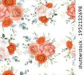 beautiful orange flower...   Shutterstock .eps vector #1952132698