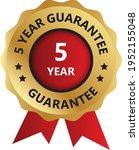 5 year guarantee badge ... | Shutterstock .eps vector #1952155048