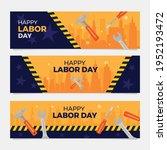 happy labor day banner.  labour ...   Shutterstock .eps vector #1952193472