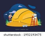 celebrate labour day concept...   Shutterstock .eps vector #1952193475