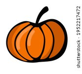 Isolated Drawing Of A Pumpkin....