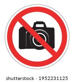 no cameras allowed sign. red... | Shutterstock .eps vector #1952231125