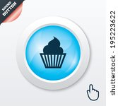 muffin sign icon. cupcake...