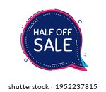 half off sale. thought bubble...   Shutterstock .eps vector #1952237815