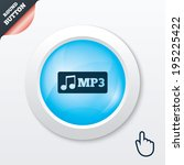 mp3 music format sign icon....