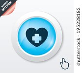 medical heart sign icon. cross...