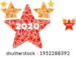 triangle mosaic 2020 stars hit... | Shutterstock .eps vector #1952288392