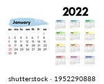 calendar for 2022 with large... | Shutterstock .eps vector #1952290888