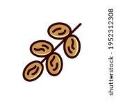 dates flat design ramadan icon. ... | Shutterstock .eps vector #1952312308