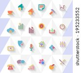 vector flat icons set | Shutterstock .eps vector #195233552