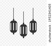 transparent ramadan lamp icon...
