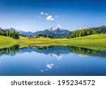Idyllic Summer Landscape With...