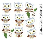 cute owls vector illustration | Shutterstock .eps vector #195235535
