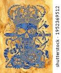 textured styled illustration of ...   Shutterstock . vector #1952369512