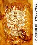 textured styled horror...   Shutterstock . vector #1952369518