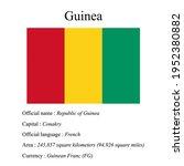 guinea national flag  country's ...   Shutterstock .eps vector #1952380882
