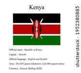 kenya national flag  country's...   Shutterstock .eps vector #1952380885