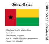 guinea bissau national flag ...   Shutterstock .eps vector #1952380888