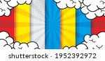 comic pop art cloud bubble....   Shutterstock .eps vector #1952392972