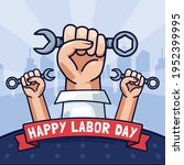 happy labor day celebration...   Shutterstock .eps vector #1952399995