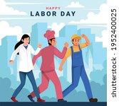 happy labor day design concept. ...   Shutterstock .eps vector #1952400025