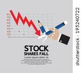 stock shares fall vector... | Shutterstock .eps vector #195240722