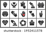 charity icon set. collection of ... | Shutterstock .eps vector #1952411578