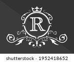 stylized letter r of the latin...   Shutterstock .eps vector #1952418652