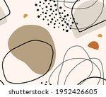 hand drawn seamless organic... | Shutterstock . vector #1952426605