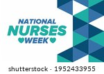 national nurses week. thank you ... | Shutterstock .eps vector #1952433955
