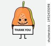 vector illustration of papaya... | Shutterstock .eps vector #1952435098