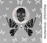 abstract hipster  illustration... | Shutterstock .eps vector #195243566