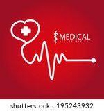 medical design over red... | Shutterstock .eps vector #195243932