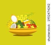 'vishu kani' an assortment of... | Shutterstock .eps vector #1952474242